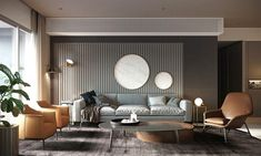 Use these gorgeous modern living room ideas, even if you have a small living room, as a starting point for your next decorating project. Living Room Modern, Living Room Interior, Home And Living, Small Living, Clean Living, Living Rooms, Contemporary Bedroom, Contemporary Chandelier, Contemporary Office