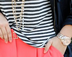 Pink Pants and stripes