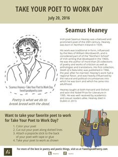 Take Your Poet to Work Day Printable Seamus Heaney