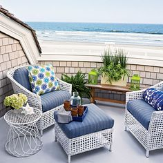 Best of Both Worlds - New Jersey beach cottage - Coastal Living Beach Cottage Style, Beach House Decor, Home Decor, Cottages By The Sea, Beach Cottages, Coastal Bedrooms, Coastal Living, Outdoor Spaces, Outdoor Living