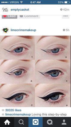 Lana del rey eyeliner look