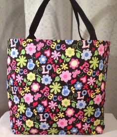 Peace and Love   Tote Bag by AyeGirlsDream on Etsy