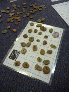alphabet rocks - match lower case or to capitals