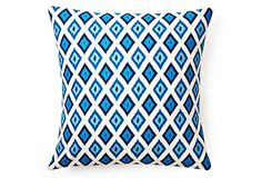 Geo Ikat 20x20 Pillow, Turquoise on OneKingsLane.com