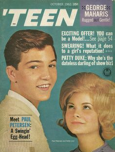 """Paul Peterson from """"The Donna Reed Show"""" on the cover of Teen Magazine October 1962"""