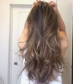 Hair, Ash brown hair, Long hair styles, Light ash brown hair, Hair cuts Hair styles 2017 - The most popular hairstyle for you in the summer of 2019 Page 14 Hairstyle - Light Ash Brown Hair, Brown Hair With Highlights, Dark Caramel Highlights, Medium Ash Brown Hair, Mocha Brown Hair, Ash Brown Ombre, Ashy Brown Hair, Cool Brown Hair, Brown Brown