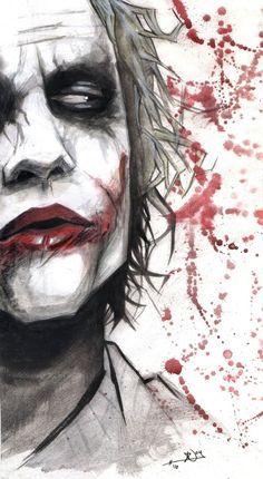 Joker - OK so not part of the Marvel universe, but I don't care. I always loved the Joker. Der Joker, Heath Ledger Joker, Joker Art, Joker And Harley Quinn, Joker Comic, Character Drawing, Comic Character, Comic Books Art, Comic Art