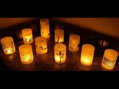 Vellum Tea Lights Tutorial -- Heat Embossing on Vellum - YouTube