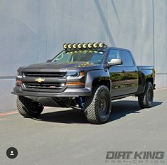 This truck is what made me buy the same KC lights for my truck which I just installed. Silverado Prerunner, Silverado Truck, Chevy Pickup Trucks, Gm Trucks, Chevy Pickups, Chevrolet Silverado, Lifted Trucks, Cool Trucks, Trophy Truck