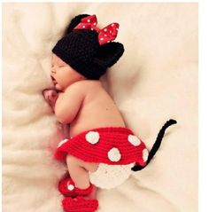 Amazon.com: Photography Prop Baby Costume Cute Crochet Knitted Baby Hat Cap Girl Boy Diaper Dogs: Baby