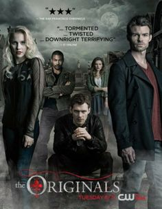 Promo Poster - Elijah (Daniel Gillies), Klaus (Joseph Morgan), Rebekah (Claire Holt), Marcel (Charles Michael Davis), and Hayley (Phoebe Tonkin)