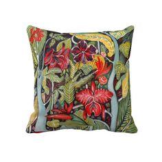 Tropical Paradise Throw Pillows #ARTSPROJEKT