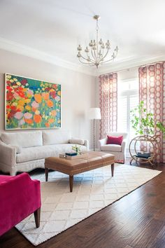 New Traditional Design Colorful Design Living Room Andria Fromm Interiors Small Living Room Design, Living Room Colors, My Living Room, Interior Design Living Room, Living Room Designs, Interior Decorating, Sala Indiana, Indian Living Rooms, Indian Home Decor