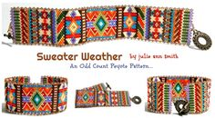 SWEATER WEATHER Bracelet Pattern | Bead-Patterns.com
