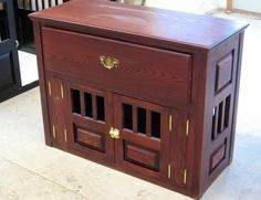 If I were going to get this crate, I'd want the drawer to be shallower. In terms of color and design, though, I like it quite a bit.  Ash crate with French doors and a custom drawer