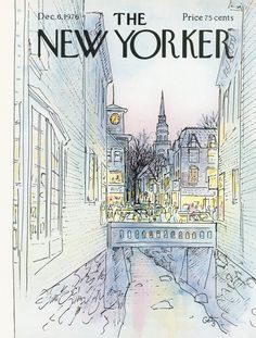 The New Yorker - Monday, December 6, 1976 - Issue # 2703 - Vol. 52 - N° 42 - Cover by : Laura Jean Allen