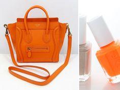 Fabulous orange bag & orange pail varnish
