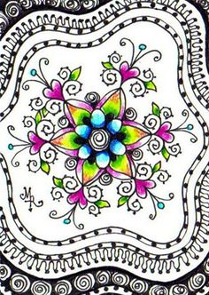 FLORAL MANDALA by Margaret Storer-Roche, via Flickr
