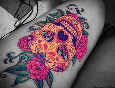I want a pretty skull tattoo like this.