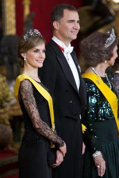 Queen Letizia of Spain Photos: Spanish Royals Host a Dinner