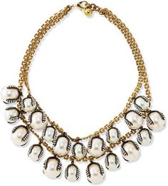 Lulu Frost Decade Simulated Pearl Statement Necklace #1010ParkPlace Pearl Statement Necklace, Strand Necklace, Pearl Set, Beaded Jewelry, Beaded Necklaces, Jewellery, Imitation Jewelry, Affordable Jewelry, Frost