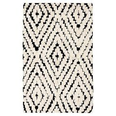 Kaleidoscope Kilim Rug, Black/Ivory #pbteen