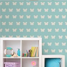 Wall Pops Cream Butterfly Minipop Wall Decals - Wall Sticker Outlet