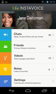 #InstaVoice Messenger application is a free cell phone informing application that joins free messaging and voicing, Voice SMS, visual voice message and missed call alarms.