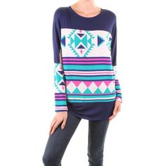 Hailey Aztec Print Tunic $30 FREE SHIPPING
