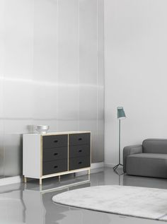 kabino dresser and stage floor lamp