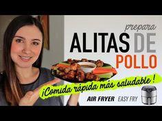 Cómo hacer ALITAS DE POLLO en #AirFryer   Comida Rápida Saludable   Receta Rápida - YouTube Liliana, Chips, Beef, Apollo, Youtube, Food, Deep Fryer Recipes, Fast Recipes, Pancakes