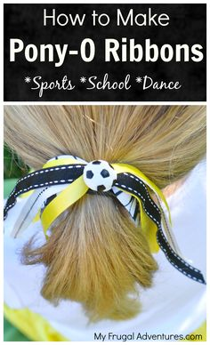 I know many of you might have little girls involved in various sports or dance or cheer and I wanted to post how to make these cute little hair ribbons. My 6 year old is back in soccer this fall, w...