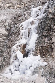 Icicles formed along Mughal road in South Kashmir as  mercury dips across Kashmir valley. Excelsior/Younis Khaliq