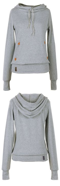 Oh, I like the sweatshirt with drawstring detailing & lovely pocket. Wow, $19.99! So cute!! Look more hot items at Cupshe.com