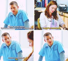 Prison break (Michael Scofield and Sara Tancredi) Prison Break 1, Prison Break Quotes, Best Tv Shows, Favorite Tv Shows, Movies And Tv Shows, Grey's Anatomy, Sara Tancredi, Michael And Sara, Best Tv Couples