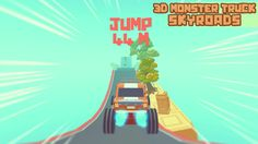 Make awesome jumps and speed up your truck! Monster Trucks, Racing, 3d, Awesome, Travel, Running, Viajes, Auto Racing, Destinations