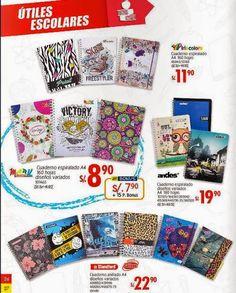Cuadernos espiralados desde s/.8.90. Metro feb 2015