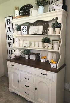 Dining room hutch, kitchen hutch, kitchen dinning room, kitchen decor, co. Dining Room Hutch, Kitchen Hutch, Kitchen Dinning Room, Kitchen Cabinets Decor, Farmhouse Kitchen Decor, Coffee Bar Home, Furniture Makeover, Hutch Makeover, Buffet