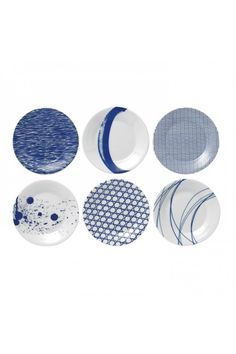 Royal Doulton Pacific Tapas Plates, Set of 6.  At Waterford Wedgwood Royal Doulton, Tanger Outlets, San Marcos, TX or call 1-800-203-4540 or 512-396-4025.  We ship.