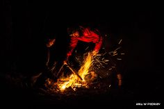 Setting fire, camping in Norway. ANIA W PODRÓŻY travel blog and photography