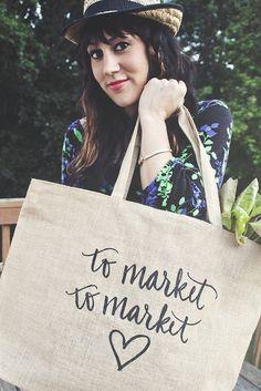 Typography - Typography - To Market, To Market Tote calligraphy... Typography design & inspiration  Preview – Work    Description  To Market, To Market Tote calligraphy  – Source –