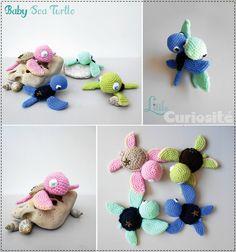 ★ Bébé Tortue de Mer ★ Baby Sea Turtle (au crochet) Cadeaux de Naissance Original Fait main, Made in France
