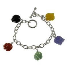 Multicolor Jade Elephant Bracelet  found at @JCPenney