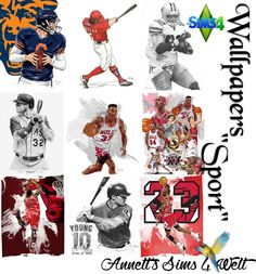 """Sims 4 CC's - The Best: Wallpapers """"Sport"""" by Annett85"""