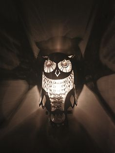 Personalizar  Lámparas de pared - Wall light OWL unique design, stainless steel - hecho a mano por Archerlamps en DaWanda
