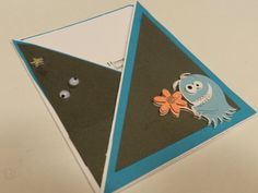 Halloween Card  Handmade Greeting Card  Blue by Moments2Celebrate, $4.70