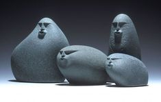 Sand-Blasted Beach Stones by spencer watson.
