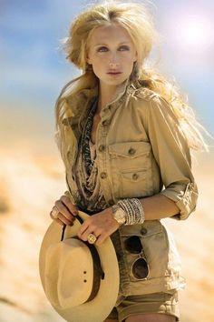 Cómo vestir el estilo safari chic: Fotos de los modelos - Look safari chic