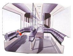 train interior sketch - Google Search