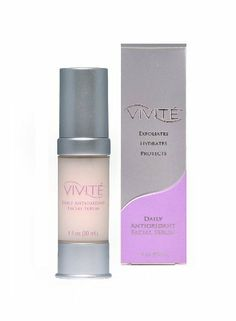 VIVITÉ Daily Antioxidant Facial Serum, 1-Ounce Pump by Vivite. $32.99. VIVITE Daily Antioxidant Facial Serum is a regular application of glycolics for hydration and renovation of the top skin layer. Also provides antioxidant protection to fight premature aging. Contains 15% glycolic compound. To be used once daily, every morning. Perfect under makeup.